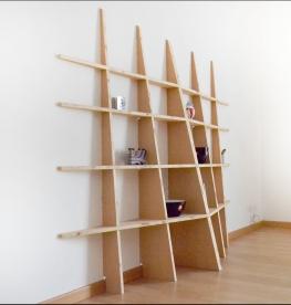 Libreria LIBRE, composizione con due moduli