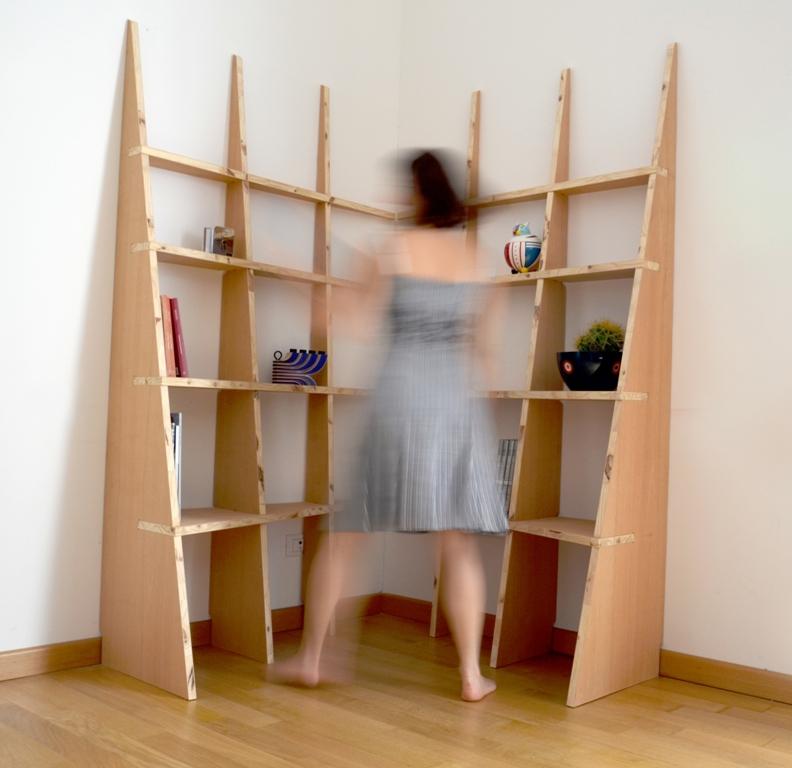 Libreria LIBRE, composizione con due moduli ad angolo | ecostadesign.it