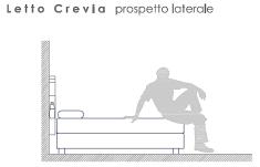 Testiera CLELIA, prospetto laterale