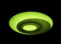 Lo schermo ellittico rimane luminoso anche quando la lampada è spenta.